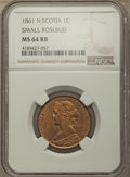 Canada, Canada: Nova Scotia. Victoria Cent 1861 MS64 Red and Brown NGC,...