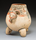 Pre-Columbian:Ceramics, A Guanacaste Nicoya Tripod Vessel with Human Head ...