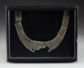 Pre-Columbian:Metal/Gold, A Chimu Silver Pectoral, Framed...