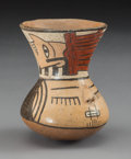 Pre-Columbian:Ceramics, A Small Nazca Trophy Head Vessel ...