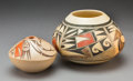 American Indian Art:Pottery, Two Hopi Polychrome Jars. I. David and Poivee Stella Huma... (Total: 2 Items)