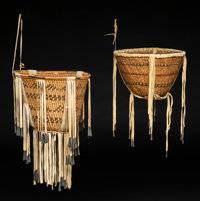 Two Apache Twined Burden Baskets c. 1950