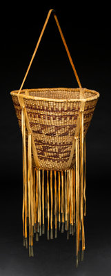 An Apache Twined Burden Basket c. 1950