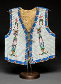 American Indian Art:Beadwork and Quillwork, A Sioux Beaded Hide Vest. c. 1900...