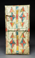 American Indian Art:Pipes, Tools, and Weapons, A Plateau Painted Parfleche Envelope. c. 1900...