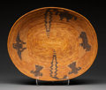 American Indian Art:Baskets, A Mission Pictorial Coiled Bowl. c. 1900. ...