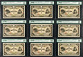 World Currency, Japan Bank of Japan 200 Yen ND (1945) Pick 44s3 Nine Specimens from PMG Choice Very Fine 35; Extremely Fine (3); Choice Ex... (Total: 9 notes)