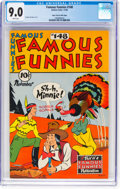 Golden Age (1938-1955):Miscellaneous, Famous Funnies #148 Mile High Pedigree (Eastern Color, 1946) CGC VF/NM 9.0 White pages....