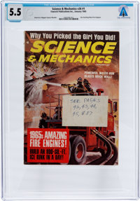 Magazines: Science & Mechanics Dated January 1965, Directly From The Armstrong Family Collection™, CAG Certified...