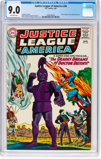Justice League of America #34 (DC, 1965) CGC VF/NM 9.0 Off-white pages