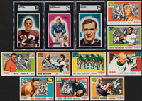 1955 Bowman Collection (21) and 1955 Topps All American Football Near Set (80)