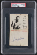 Autographs:Others, Signed 1960's Sonny Liston Promo Card....