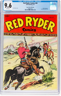Red Ryder Comics #48 Mile High Pedigree (Dell, 1947) CGC NM+ 9.6 White pages