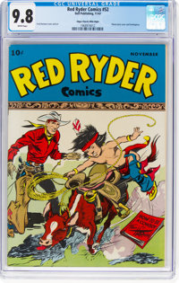 Red Ryder Comics #52 Mile High Pedigree (Dell, 1947) CGC NM/MT 9.8 White pages