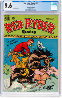 Red Ryder Comics #79 Mile High Pedigree (Dell, 1950) CGC NM+ 9.6 White pages