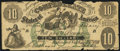 Confederate Notes:1861 Issues, CT10 Counterfeit $10 1861 Fine.. ...
