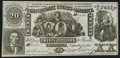 Confederate Notes:1861 Issues, CT20 Counterfeit $20 1861 Choice About Uncirculated.. ...