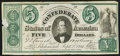 Confederate Notes:1861 Issues, CT33 Counterfeit $5 1861 Very Fine.. ...