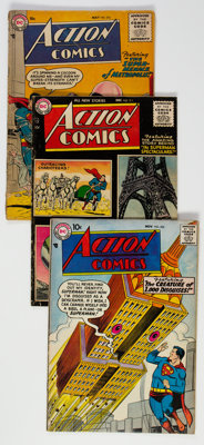 Action Comics Group of 22 (DC, 1955-59) Condition: Average GD.... (Total: 22 Comic Books)
