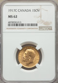Canada, Canada: George V gold Sovereign 1917-C MS62 NGC,...