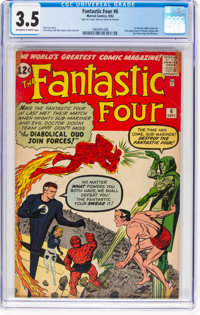 Fantastic Four #6 (Marvel, 1962) CGC VG- 3.5 Off-white to white pages