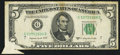 Error Notes:Foldovers, Foldover Error Fr. 1964-G $5 1950C Federal Reserve Note. Fine.. ...