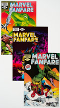 Modern Age (1980-Present):Superhero, Marvel Fanfare Group of 55 (Marvel, 1982-91) Condition: AverageNM-.... (Total: 55 )