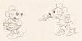Animation Art:Production Drawing, Puppy Love Mickey and Minnie Mouse Animation Drawing (Walt Disney, 1933). ...