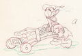 Animation Art:Production Drawing, Donald's Cousin Gus Donald Duck Animation Drawing (WaltDisney, 1939)....