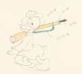 Animation Art:Production Drawing, The Vanishing Private Donald Duck Animation Drawing (WaltDisney, 1941)....