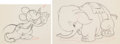 Animation Art:Limited Edition Cel, Mickey's Elephant Mickey Mouse and Bobo Animation Drawings Group of 2 (Walt Disney, 1936).... (Total: 2 Items)