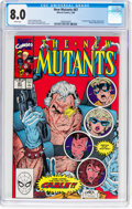 Modern Age (1980-Present):Superhero, The New Mutants #87 (Marvel, 1990) CGC VF 8.0 White pages....