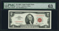 Small Size:Legal Tender Notes, Fr. 1513* $2 1963 Legal Tender Star Note. PMG Choice Uncirculated 63.. ...