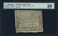 Colonial Notes:Virginia, Virginia October 16, 1780 $50 PMG Very Fine 30.. ...
