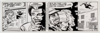 Larry Lieber with Stan Lee The Amazing Spider-Man Daily Comic Strip Original Art dated 12-2-92 (Marvel Entertainme