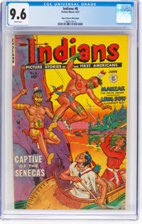 Indians #6 Mile High Pedigree (Fiction House, 1951) CGC NM+ 9.6 White pages