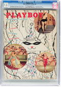 Magazines:Miscellaneous, Playboy V2#2 (HMH Publishing, 1955) CGC VF- 7.5 Off-white to white pages....