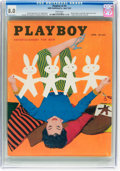Magazines:Vintage, Playboy V2#4 (HMH Publishing, 1955) CGC VF 8.0 White pages....