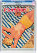 Magazines:Vintage, Playboy V2#7 (HMH Publishing, 1955) CGC VF+ 8.5 Off-white to white pages....