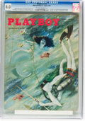 Magazines:Vintage, Playboy V2#8 (HMH Publishing, 1955) CGC VF 8.0 Off-white to white pages....