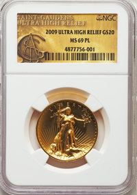 2009 $20 One-Ounce Gold Ultra High Relief Twenty Dollar MS69 Prooflike NGC....(PCGS# 506602)