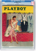 Magazines:Vintage, Playboy V2#6 (HMH Publishing, 1955) CGC VF 8.0 White pages....