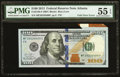 Foldover Error Fr. 2188-F $100 2013 Federal Reserve Note. PMG About Uncirculated 55 EPQ
