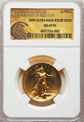 2009 $20 One-Ounce Gold Ultra High Relief Twenty Dollar MS69 Prooflike NGC. NGC Census: (1113/1716). PCGS Population: (1...