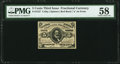Fractional Currency:Third Issue, Fr. 1237 5¢ Third Issue PMG Choice About Unc 58.. ...