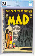 Golden Age (1938-1955):Humor, MAD #1 (EC, 1952) CGC VF- 7.5 Off-white to white pages....