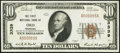 National Bank Notes:Nebraska, Ord, NE - $10 1929 Ty. 1 The First NB Ch. # 3339 Extremely Fine-About Uncirculated.. ...
