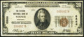 National Bank Notes:Nebraska, Wisner, NE - $20 1929 Ty. 1 The Citizens NB Ch. # 6866 Very Fine.. ...