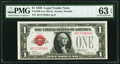 Small Size:Legal Tender Notes, Fr. 1500 $1 1928 Legal Tender Note. PMG Choice Uncirculated 63EPQ.. ...
