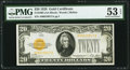 Small Size:Gold Certificates, Fr. 2402 $20 1928 Gold Certificate. PMG About Uncirculated 53 EPQ.. ...